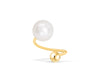 14k Yellow Gold Fresh Water Pearl Round Ball Cartilage Rook Helix Lobe Eyebrow Lip Twist Spiral Piercing Earring
