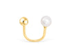14k Yellow Gold Fresh Water Pearl Round Ball Jewelry Tragus Cartilage Snug Rook Helix Lobe Eyebrow Circular Horseshoe Piercing Earring
