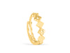 14K Gold Round Diamond Cut Piercing Earring Ear Clicker Hoop Ring