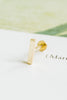 14k Gold Rectangle Cartilage Internally Internal Threaded Labret