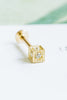 14k Gold Cubic Square Cartilage Internally Internal Threaded Labret