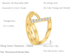 14K Solid Gold Jewelry Cz Round Tragus Cartilage Snug Rook Daith Helix Lip Nose Ear Segment Clicker Hoop  Small Cubic Triangle Ring Piercing Earring