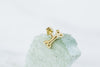 14k Gold Bone Barbell Ear Stud Piercing