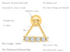 14k Gold Triangle Four Cubic Bar Barbell Ear Stud Piercing
