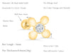 14k Gold Cubic Four Petal Barbell Ear Stud Piercing