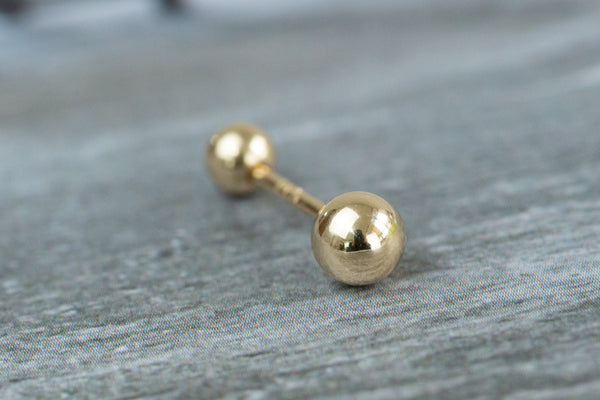 14k Gold  Simple ball Piercing-A