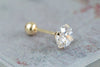 14k Gold  cubic piercing-F