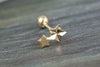 14k Gold  star Piercing-N