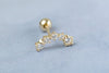 14k Gold  CZ star Piercing-O