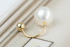 14k Gold  pearl ball Piercing-U