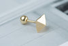 14k Gold  pyramid Piercing-AB