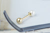 14k Gold  pearl Piercing-AC