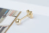 14k Gold  cross Piercing-AE