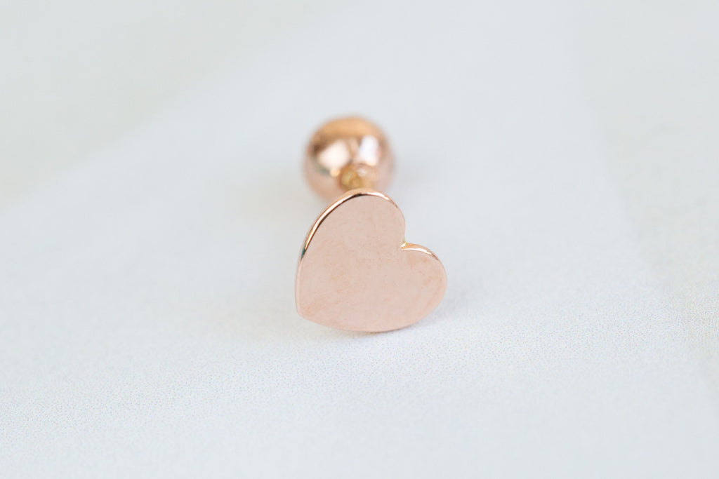 14k Gold  heart Piercing-AG