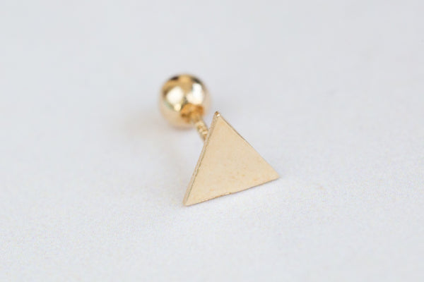 14k Gold  triangle Piercing-AK