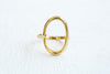 Cool Bohemian Open Round Circle Delicate Ring For Women Teens Girls