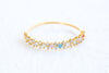 Multi Color Simulated Diamond Cz Delicate Crown Tiara Round Ring