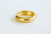 Bohemian Matt Color Simple Thick Round Circle Delicate Ring For Women