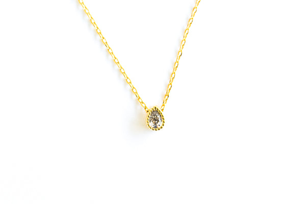 Fashion Delicate Necklace Jewelry Cubic Tear Pendant Chain Necklace