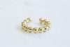 Ball Beaded Shape Round Line Non Pierced Ear Cuff Earring