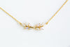 Fashion Delicate Necklace Jewelry Cubic Leaf Pendant Chain Necklace
