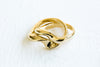 Round Wave Pinky Midi Stackable Two Ring For Women Teens Girls