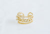 Simulated Diamond Cz Crown Non Pierced Ear Cuff Earring