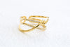 Simulated Diamond Cz Love Tie Knot Round Adjustable Ring For Women