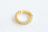 Simulated Diamond Cz Thick Round Adjustable Ring For Women Girls