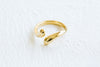 Boho Snake Simple Thick Round Circle Midi Pink Adjustable Ring