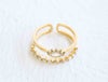 Cz Sun Eye Crown Open Round Adjustable Ring For Women Teens Girls