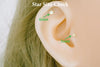 14K Real Solid Gold Star Jewelry Tragus Conch Cartilage Snug Rook Daith Helix Stud Piercing Earring For Women Girls hypoallergenic