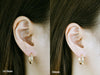 14K Real Solid White Yellow Rose Gold Round Cartilage Helix Inner Conch Ear Stud Post Piercing Earring Huggie Ring Hoop For Women Girls Men