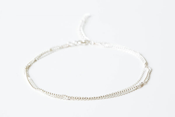 925 3lines square chain-g