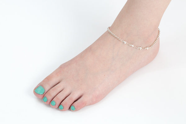 925 dilphin 3s anklet-ab