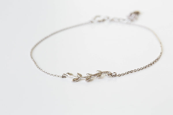 925 leaf chain anklet-ac