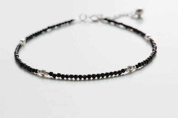 925 gemstone ball anklet-ba