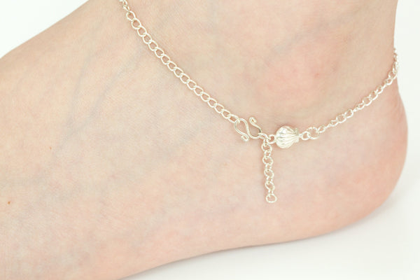 925 clam anklet-bf
