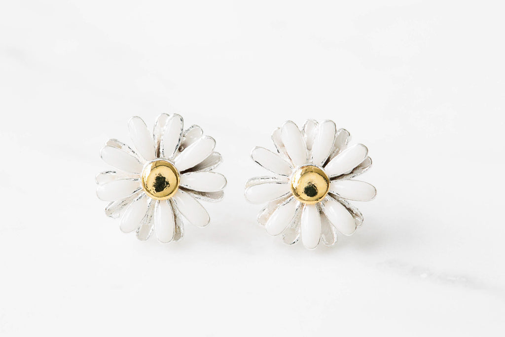 925 flower earrings-DG