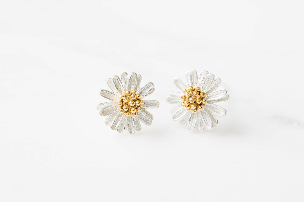 925 flower earrings-DN