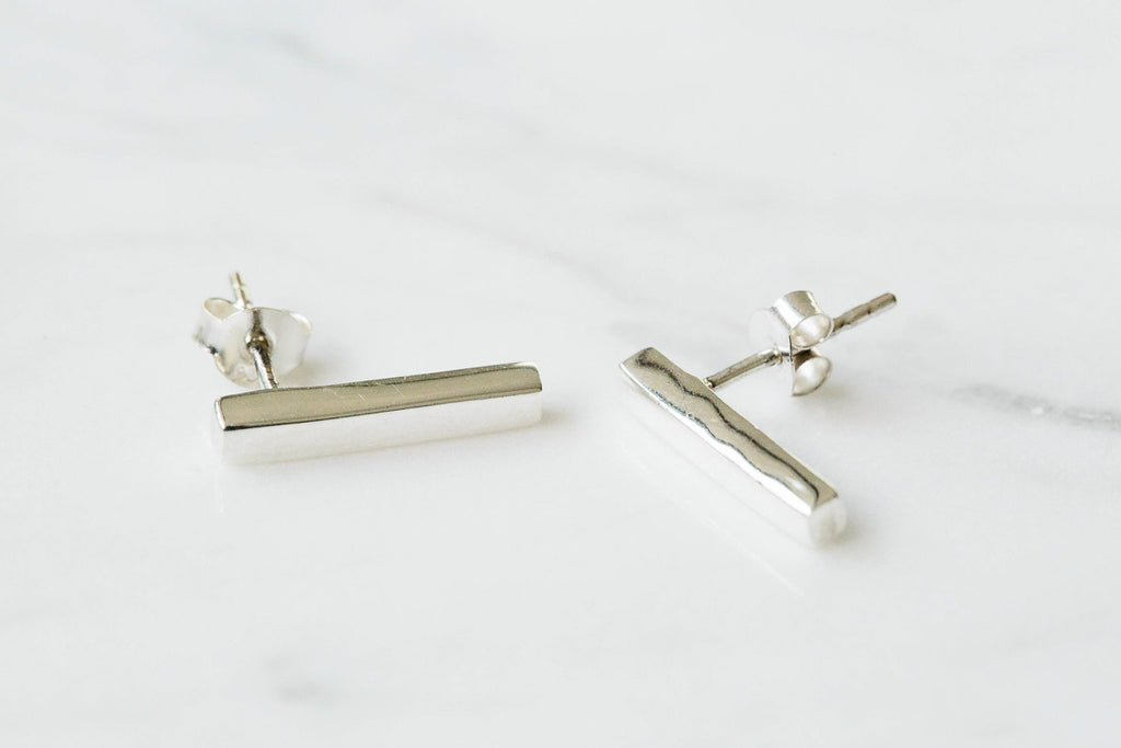 925  Bar Earrings-GN