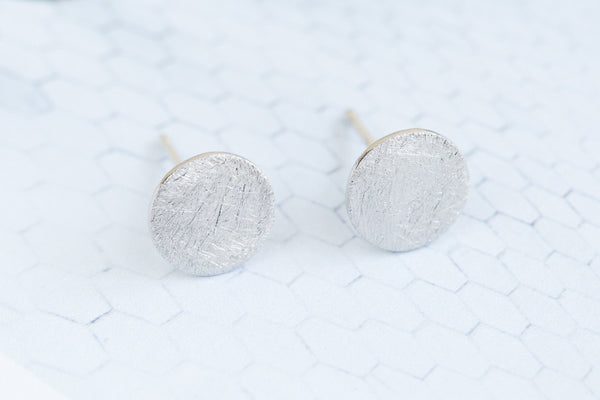 925 circle earrings-GO