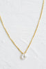 925 Sterling Silver Bridesmaid Gift Link Chain Tear Cubic Necklace