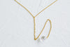 925 Sterling Silver Bridesmaid Gift Link Dangling Cubic Chain Necklace