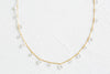 925 Sterling Silver Bridesmaid Gift Round Cubic Pendant Chain Necklace