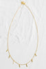 925 Sterling Silver Bridesmaid Gift Link Dangling Stick Chain Necklace