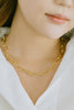 925 Sterling Silver Bridesmaid Gift Link Thick Square Chain Necklace
