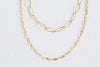 925 Sterling Silver Bridesmaid Gift Link Round Two Chain Necklace