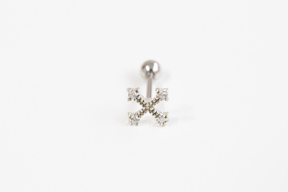 925 Cross cz piercing-i
