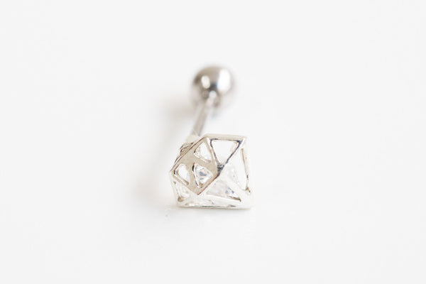 925 cz diamond piercing-ab